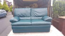 Decora italian leather 2 seater sofa