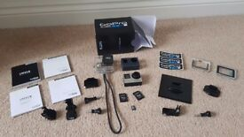 GOPRO Hero 4 Silver + Accessories + 16GB SD Card - Excellent Condition