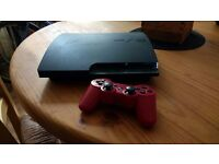 PS3 Slim 12gb with 2 pads & Destiny