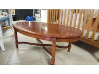 Dark Vintage Oval Coffee Table in Good Condition
