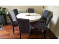 Ikea extendable dining table and chairs, dining set
