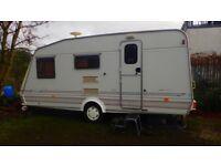 Elddis Vogue SE 4 berth caravan with awning