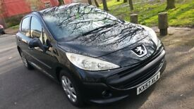 57reg PEUGEOT 207 ,long MOT ,new timing belt ((BARGAIN))