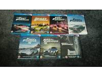 FAST AND FURIOUS 1-7 LIMITED EDITION STEELBOOKS