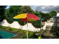 Garden parasol & base