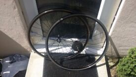 700C Wheels front rear freewheel road bike 622x13 7-speed
