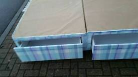 Double bed base with storage