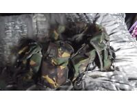 Army combat webbing complete with accessories