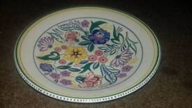 Poole Pottery Large Charger Dish.