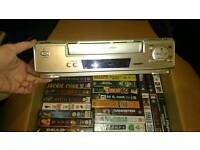 Sanyo VHS player/recorder and collection of VHS Tapes
