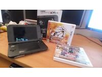 The New Nintendo 3DS XL with Pokemon Sun and Hyrule Warriors Legends