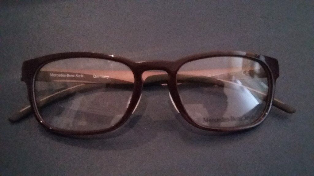Mercedes Benz Frame Glasses. NEWin Gravesend, KentGumtree - Mercedes Benz Design Glasses / Frames. New, Unworn, Genuine. Beautiful, awesome and will look great with that Mercedes car owner! Bargain at £60 as no hard case Include extra £4.50 for postal delivery if required