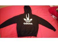 Woman's Adidas Originals black hoody with white logo. £25