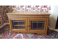 TV Stand and Cabinet with Glass Doors