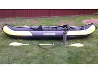 Sevylor Colorado 2 person kayak black and yellow used couple times excellent condition