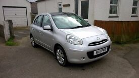 Nissan Micra 1.2 Tekna Dig S, pure drive. REDUCED PRICE. £0 road tax, all extras. Only 38,750 miles