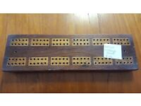 Antique Wooden Cribbage Board in Good Condition