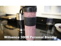 300W Mini Bullet Smoothie Blender with 20 Oz Tritan Sports Bottle, new only opened for testing