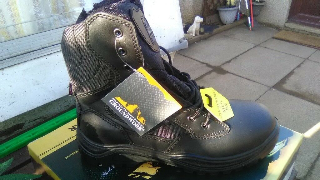 753782471ee Groundwork hi leg safety work boots sizes 7,8,9,10,11 and 12 lacing and zip  | in Insch, Aberdeenshire | Gumtree