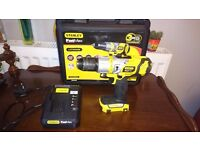 Stanley Fatmax 18V Cordless Hammer Drill + Charger + Stanley Plastic Case = £20