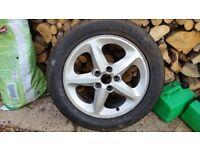 225/50R17 alloy wheel & tyre unused from Hyundai Sonata, rim fits many Hyundai, Kia, Mitsubishi