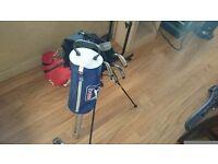 Selection of good quality clubs, bag, tees, balls and ball retriever