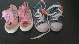 Girls hitops shoes size 9. 2 pairs