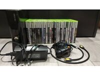 XBOX 360 S 250 GB with 26 games, rechargeable wireless controller, power adaptor, HDMI cable