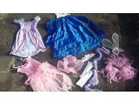 Girls Princess Fairy Role Play Dress up Pretend Costume Set Dress Crown 3 - 8 Y