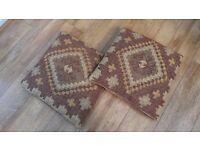 """Kilim Cushions (Pair) 20"""" sq - Set 4"""