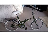 Raleigh Stowaway folding bike vintage but perfect condition