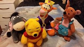 Winnie the Pooh Tigger Eeyore Kanga Bundle of 4 Soft toys 25-30cm