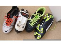 2 pairs of football boots uk Size 2