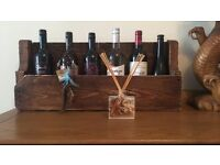 Rustic Vintage/Shabby Chic Wine Rack