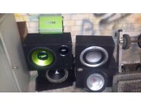 Amp and sub speakers for a car for sale