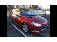 2001 PEUGEOT 206 1.6 SEPTEMBER 2017 MOT, CAMBELT REPLACED, FULL SERVICE HISTORY, READY TO GO