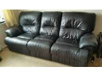 Sold pending collection Black Leather 3 + 2 suite ( recliners )