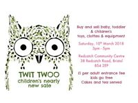 Twit Twoo children's nearly new sale in Bristol, BS4 2EP