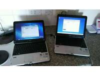 2 x dual core touchscreen laptops