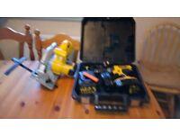 Used Dewalt cordless 18 v tools set, Drill/Circular saw, etc. See photos & details
