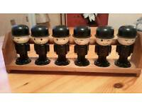 Vintage Homepride spice holders and rack