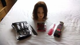 Kate Manikin Head and Misc brushes and combs