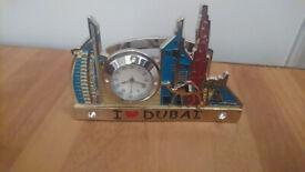 Dubai desk ornament with clock