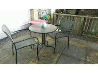 Bistro garden table and 2 chairs