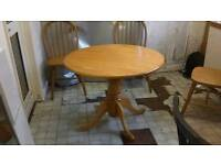 Dining table and chairs oak
