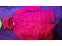 Girls red next jacket age 5-6