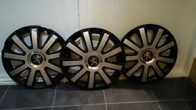 14inch Peugeot 206 Wheel trims x 3
