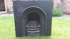 Agnews Arch Cast Iron Insert Fireplace.