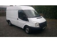 2010 FORD TRANSIT SW SEMI HIGH TOP 2.2 WITH 90,000 MILES FROM NEW, FULL 12 MONTHS MOT