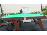 HY-Pro 6ft folding snooker table